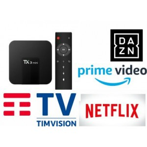 NETFLIX DAZN TIMVISION PRIME VIDEO Android Box HD